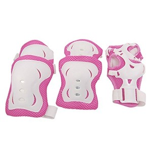 uxcell Children Fuchsia Wht Knee Palm Elbow Protective Support [並行輸入品]