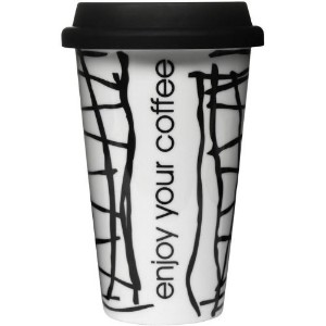 Sagaform On the GO Coffee Mug with Silicone Lid [並行輸入品]