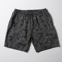 SNOID DISGUSTING DISGUISES Shorts (H.Charcoal Gray) スノイド 総柄ショーツ/パンツ