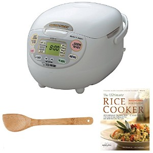 Zojirushi NS-ZCC10 Neuro Fuzzy Rice Cooker & Warmer (1.0 Liter) Bundle with 15-Inch Bamboo Stir Fry...