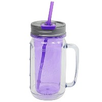 Cool Gear Mason Jar Water Bottle with Handle, 16 oz, Purple by Cool Gear