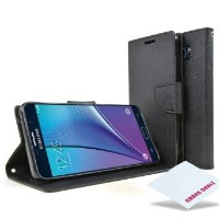 Galaxy Note 5 Case, [Magnetic Flap Closure] Premium Stand View Card Pocket Flip Wallet Cover Case...