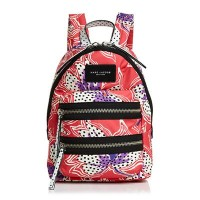 マークジェイコブス バックパック MARC JACOBS M0012118Spotted Lily Printed Biker Mini Backpack (RED MULTI) バイカー リリー...