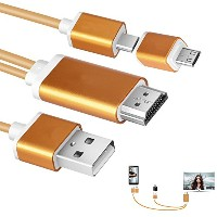 aceyoon Micro USB to HDMI 1080P 高解像度 Mobile High-Definition Link機能付き Androidスマホ / タブレット専用 Micro...