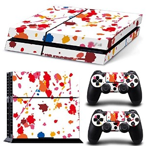 FriendlyTomato PS4専用 Skin プレイステーション4用スキンシール - Design Spots Colors - PlayStation 4 Vinyl