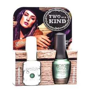 Harmony Gelish & Morgan Taylor - Two of a Kind - Holy Cow-Girl - 0.5oz / 15ml Each