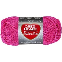 Coats Yarn RED HEART Reflective 毛糸 極太 ピンク 100g 約80m
