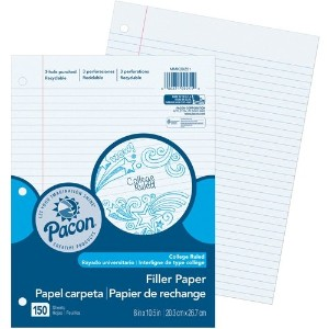 Pacon Filler Paper College Rule