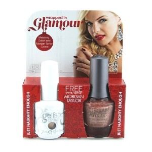 Harmony Gelish & Morgan Taylor - Two of a Kind - Just Naughty Enough - 0.5oz / 15ml Each