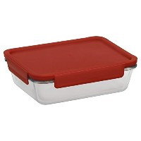 Pyrex 4-lock 6 Cup Rectangle Storage w/ Red Lid by Pyrex