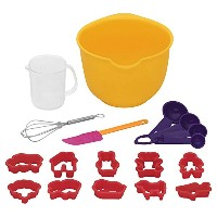 Baker's Secret 18 Piece Kids Baking Set, Multicolor by Baker's Secret