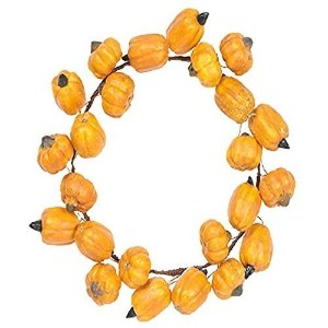 Fantastic Craft Pumpkin Candle Ring Wreath, 6-1/2-Inch Small [並行輸入品]