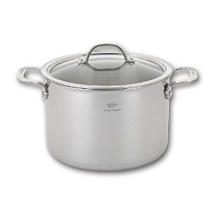 Lenox L-12286 Tri-Ply Stock Pot and Lid, 8.0-Quart, Silver by Lenox [並行輸入品]