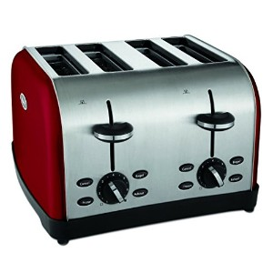 Oster TSSTTRWF4R 4-Slice Toaster, Red by Oster