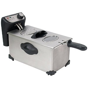 CHARD DF-3E Stainless Steel Deep Fryer with Power and Ready Lights, 3.0-Liter [並行輸入品]