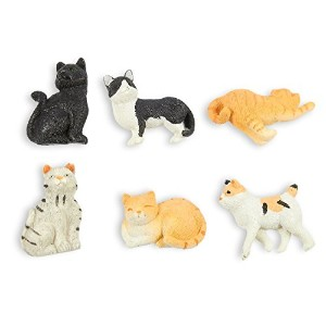 Set of 6 Cat Magnets – 面白い動物冷蔵庫磁石、完璧Animal Loverギフト