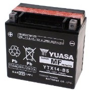 YUASA YTX14-BS 【バイク用バッテリー FTX14-BS/GTX14-BS/KTX14-BS互換