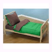 Green & Brown Toddler Bedding Set by BabyDoll Bedding