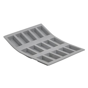 De Buyer 1852.21D Mini Élastomoule Silicone Mini-Financier 15 Empreintes