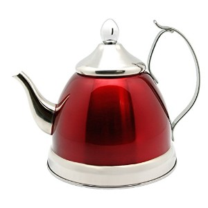 Creative Home Nobili Tea Stainless Steel Tea Kettle, Cranberry 1.0 qt by Creative Home