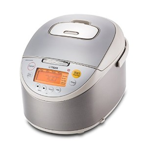 Tiger JKT-B18U-C Rice Cooker with Oatmeal Cooker, Stainless Steel Beige, 10 Cup by Tiger Corporation