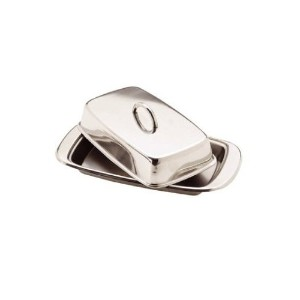 1 X Stainless Steel Butter Dish with Lid by Kitchen Craft