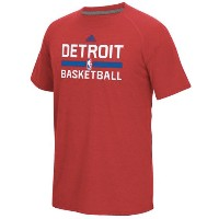 Detroit Pistons adidas 2016 On-Court climalite Ultimate T-Shirt メンズ Red NBA Tシャツ デトロイト ピストンズ
