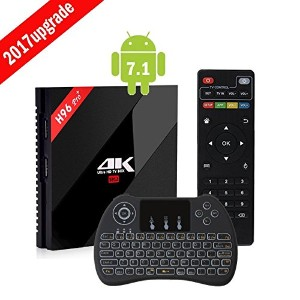 最新バージョン Updated Android7.1 Smart TV Box (3G32G+H9Backlit) テレビボックス Amlogic S912 OTT Octa Core...