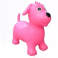 Happy Hopperz Pink Dog Bouncer