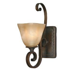 Golden照明Meridian 1ライト壁6.5 in。Sconce – Golden Bronze Finish 6-1/2-Inch W by 15-Inch H 3890-1W GB 1