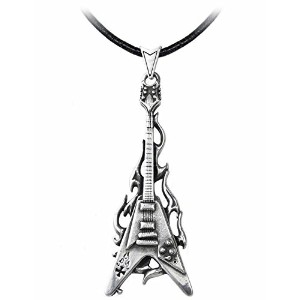 Flaming Vペンダントby Alchemy Gothic ( metal-wear ) ( p685 )