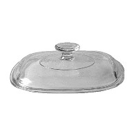 Corning Ware / Pyrex Clear Square Glass Lid ( 8 Width ) ( A-9-C ) by Pyrex