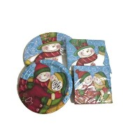 Wintertime Greetings Holiday Paper Goodsバンドル–Creative Converting Party Goods