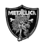 Metallica Raiders Skull Crest 公式 新しい ブラック Cut Out Patch