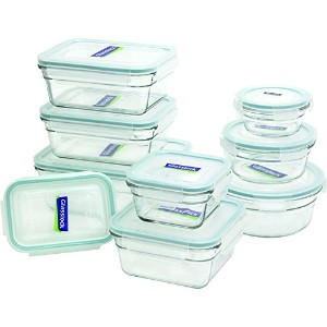 Glasslock 18-Piece Assorted Oven Safe Container Set by GlassLock