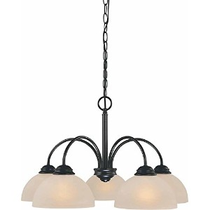 Volume Lighting V2275-79 Chandelier, Antique Bronze Finish by Volume Lighting