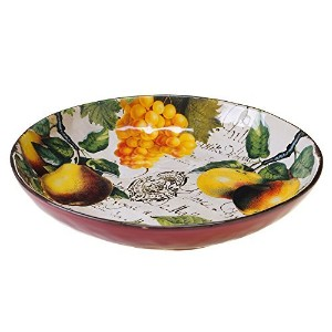 Certified International Botanical Fruit Pasta/Serving Bowl, 13-Inch, Multicolor [並行輸入品]