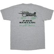 """BUZZ RICKSON'S (バズリクソンズ) P-51 MUSTANG S/S T-SHIRT """"P-51 SPECIFICATIONS"""" (半袖バックプリントTシャツ) H.GRAY..."""