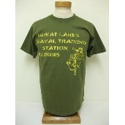 BuzzRickson's[バズリクソンズ] Tシャツ NAVAL TRAINING STATION (OLIVE)