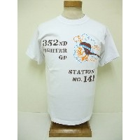 BuzzRickson's[バズリクソンズ] Tシャツ 352nd FIGHTER GROUP (WHITE)