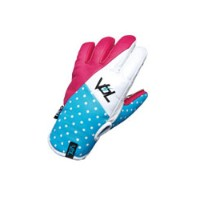 VOLUME GLOVES RABBIT LEATHER WATERPROOF (VGi) R-PINK×SKY×WHITE 【スノーボード グローブ】715005