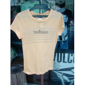 ★Special Sale!! 20%OFF!!★ 08 VOLCOM レディース SUN DOWN S/S SHEER TEE ORG S
