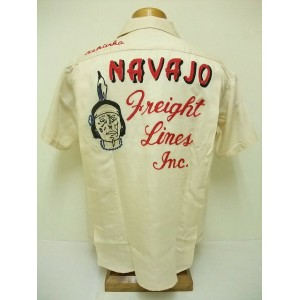 King Louie[キングルイ] ボウリングシャツ NAVAJO Freight Lines Inc. (OFF WHITE)