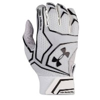 アンダーアーマー メンズ 野球 グローブ【Under Armour Yard Clutchfit Batting Gloves】White/White/Black