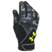 アンダーアーマー メンズ 野球 グローブ【Under Armour Clean-up Culture Batting Gloves】Black/Black/High Visability Yellow