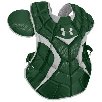アンダーアーマー メンズ 野球 プロテクター【Under Armour Pro Chest Protector】Dark Green/Silver