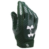 アンダーアーマー メンズ アメリカンフットボール グローブ【Under Armour Spotlight Football Gloves】Forest Green/Forest Green/White