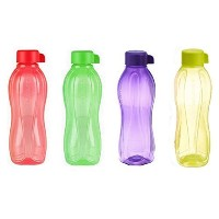 4 X Tupperware Eco Safe Water Bottle (1 Ltr. Each) Assorted Colors by Tupperware [並行輸入品]