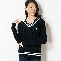 【17SS】CABLE KNITTED SWEATER/フレッドペリー(レディス)(FRED PERRY)