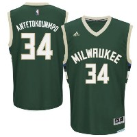 Giannis Antetokounmpo Milwaukee Bucks adidas Road Replica Jersey メンズ NBA レプリカ ジャージ アディダス ユニフォーム...